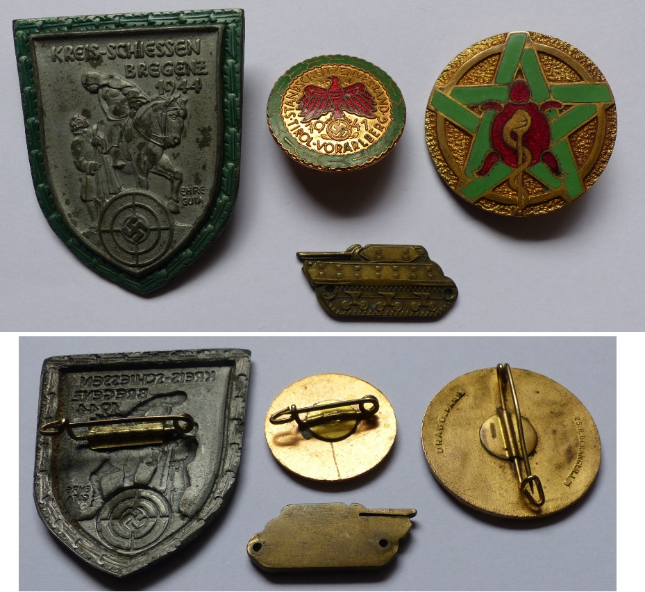 Identification insignes reich France 40, char Insi